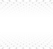Perspective grid hexagonal surface Stock Images