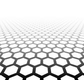 Perspective grid hexagonal surface Stock Image