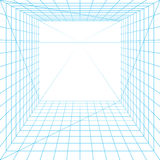 Perspective grid. Illustration on white Royalty Free Stock Photo