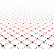 Perspective grid surface Stock Image