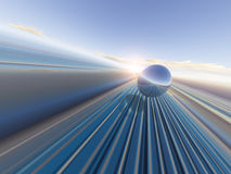 Perspective Gridline d'horizon Photographie stock