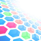 Perspective hexagon abstract tile background Stock Images