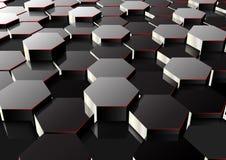 Perspective hexagonal background Stock Photos