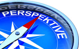 Perspective. High resolution rendering of an compass with the icon perspective Royalty Free Stock Photography