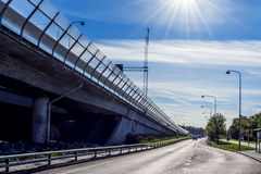Perspective of highway entrance stock photography