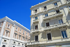 Perspective of historic palaces. Royalty Free Stock Photos
