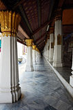 Perspective of Ho Phra Monthien hall columns Stock Images