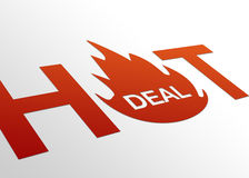 Perspective Hot Deal Sign. High resolution perspective graphic of a hot deal sign Stock Photos