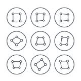 Perspective icons on white. Eps 10 file, easy to edit Stock Illustration