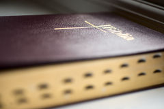 Bible religion faith book. Perspective image of a bible Royalty Free Stock Images