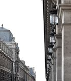 Perspective image over Paris street near Louvru museum Royalty Free Stock Photography