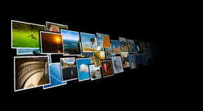Perspective of images streaming from the deep royalty free stock photos