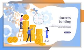 Perspective Investment Project Vector Website stock illustration