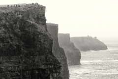 Perspective of Irish Cliffs Royalty Free Stock Images