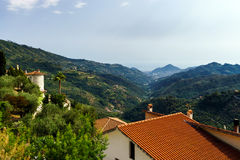 Perspective landscape view in high italien mountains Stock Image