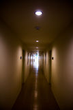 Perspective of the long corridor Stock Photography