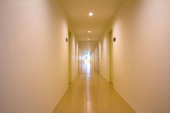 Perspective of the long corridor Royalty Free Stock Photo