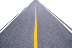 Perspective long road isolate on white background Stock Photography