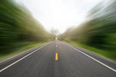 Perspective long road in Wayside motion fast style Stock Photo