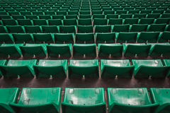 Perspective of many empty stadium seats Stock Photos