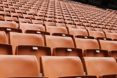 Perspective of many empty stadium seats Stock Image