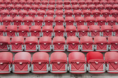 Perspective of many empty stadium seats Stock Images