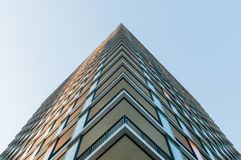 Perspective of a new modern building Royalty Free Stock Image
