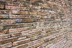 Perspective of old brick wall Royalty Free Stock Photography