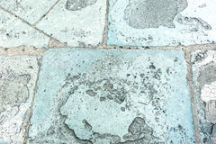 Perspective old rough pavement stone grunge texture background Stock Image