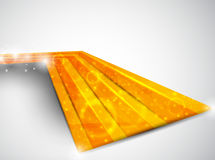 Perspective orange template Stock Images