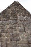Perspective Pérou de murs en pierre et de maisons de Machu Picchu Photos libres de droits