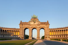 Perspective panoramic view to the Triumphal Arch Stock Photography