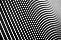 The perspective of parallel black and white lines. The perspective of parallel black and white line Stock Photos