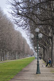 Perspective park in Paris Royalty Free Stock Photo