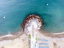 Perspective peu commune de plage Photos libres de droits