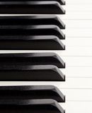 Perspective on piano keys royalty free stock photo