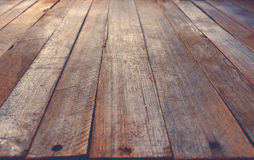 Perspective Placement Desk Table Desk Background. Empty Perspective Placement Desk Table Brown Colored Painted Old Shabby Wooden Background Stock Photos