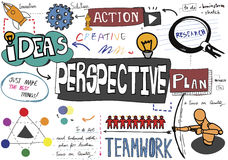 Perspective Plan Action Ideas Business Concept stock illustration