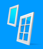 Perspective plastic window illustration Stock Photography