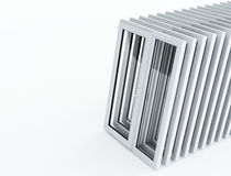 Perspective plastic windows Royalty Free Stock Image