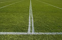 Perspective of a playing field with white lines Stock Photos