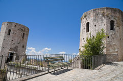 Perspective of Properzio Towers. Spello. Umbria. Perspective of the Towers of Properzio. Spello. Umbria Royalty Free Stock Images