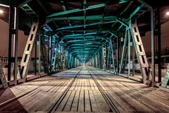 Perspective of rail bridge Royalty Free Stock Photos