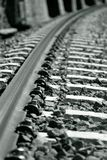 Perspective on the railway. In Black and white Stock Photos