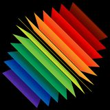 Perspective rainbow abstract rectangles Royalty Free Stock Images