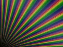 Perspective rainbow planks Royalty Free Stock Photo