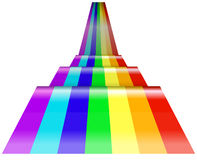 Perspective of rainbow wave Royalty Free Stock Images
