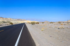 Perspective road, Death Valley, USA Royalty Free Stock Image