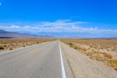 Perspective road, Death Valley, USA Stock Images