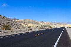 Perspective road, Death Valley, USA Royalty Free Stock Images